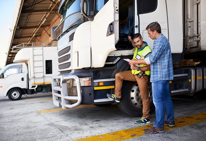 truck driver studying analysis